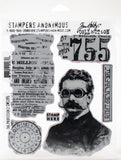 Tim Holtz Cling Stamps The Professor 2 7inX8.5in