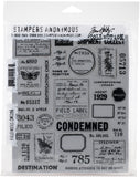 Tim Holtz Cling Stamps Field Notes 7inX8.5in