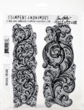 Tim Holtz Cling Stamps Baroque 7inX8.5in