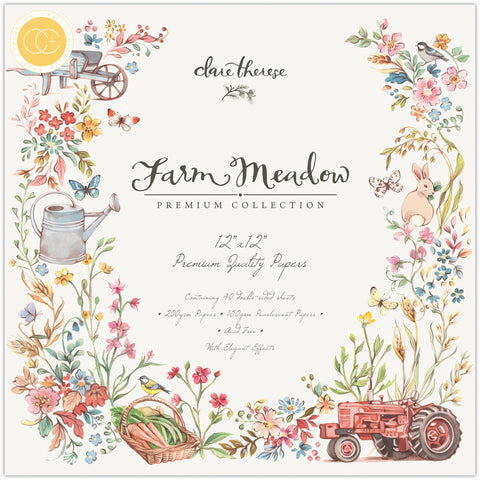 Craft Consortium Double-Sided Paper Pad Farm Meadow By Clare Therese Gray 12inX12in 40pk