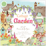 Craft Consortium Double-Sided Paper Pad Cottage Garden 12inX12in 40pk