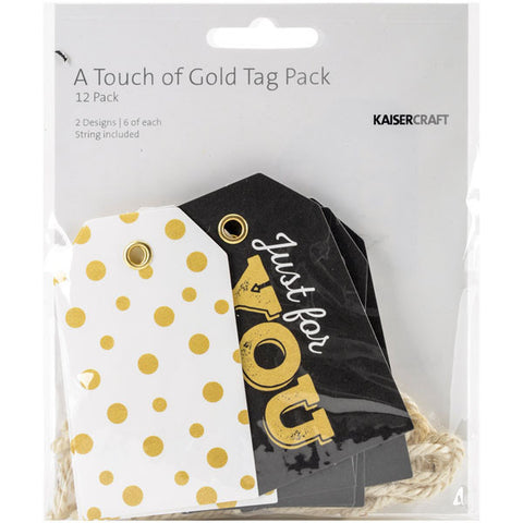 A Touch Of Gold Tags with String