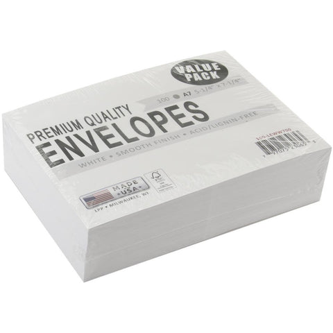 A7 Envelopes White 100pk
