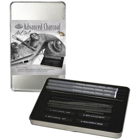 Advanced Charcoal Art Set with Tin