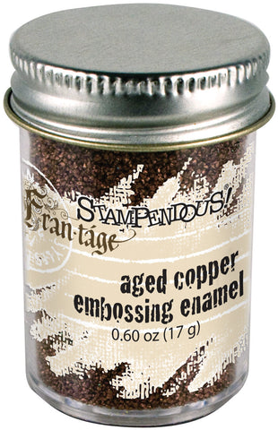 Aged Embossing Enamel Copper
