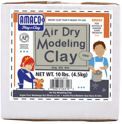 Amaco Air Dry Modeling Clay Gray