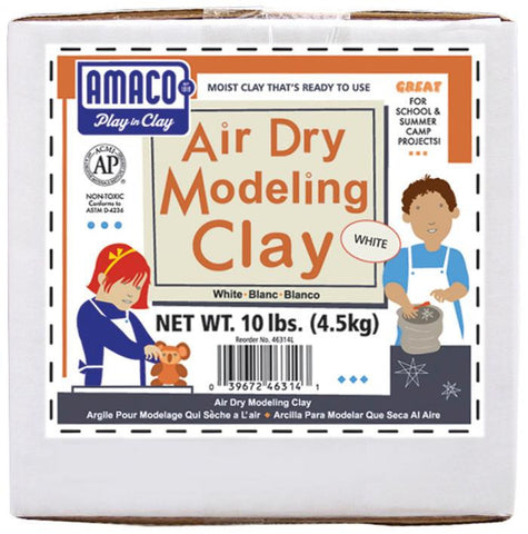 Amaco Air Dry Modeling Clay White 10lbs