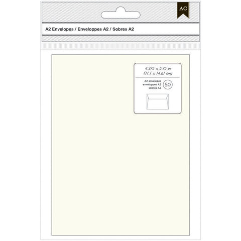 American Crafts A2 Envelopes Ivory 50pk