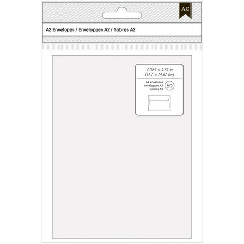 American Crafts A2 Envelopes White 50pk