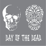 Andy Skinner Mixed Media Stencil Day Of The Dead 8inx8in