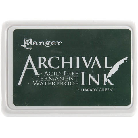 Ranger Archival Ink Pad #0 Library Green