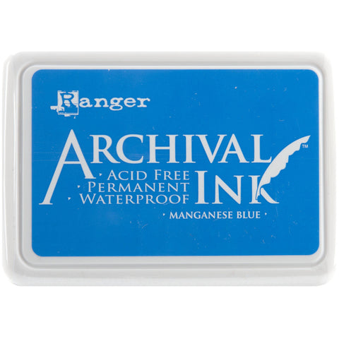 Ranger Archival Ink Pad #0 Manganese Blue