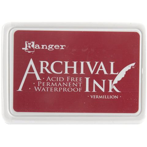 Ranger Archival Ink Pad #0 Vermillion