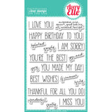 Avery Elle Clear Stamp Set Handwritten Notes