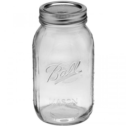 Ball Regular Mouth Canning Jar Quart 12pk