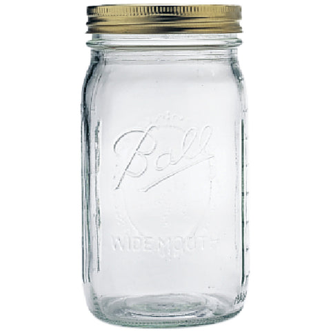 Ball Wide Mouth Mason Jar (Quart) - 12/Pkg