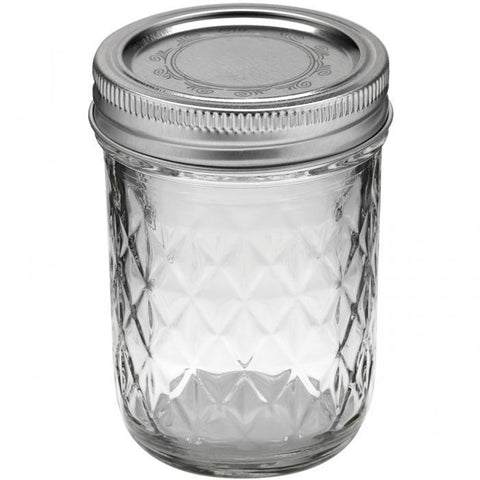 Ball Quilted Crystal Jelly Jar 8oz 12pk