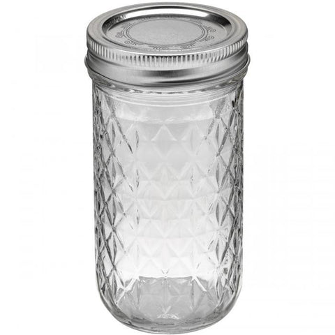 Ball Quilted Crystal Jelly Jar 12oz 12pk