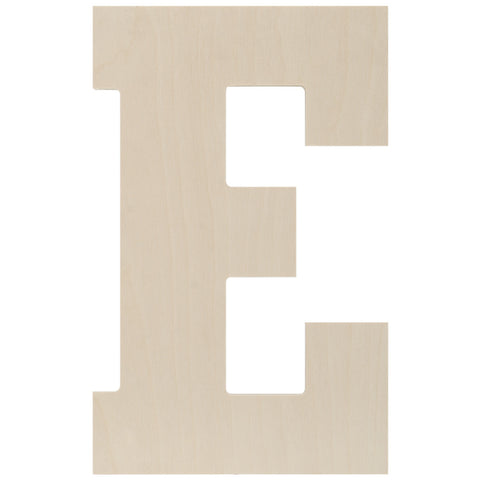 Baltic Birch Collegiate Font Letter E 13.5in
