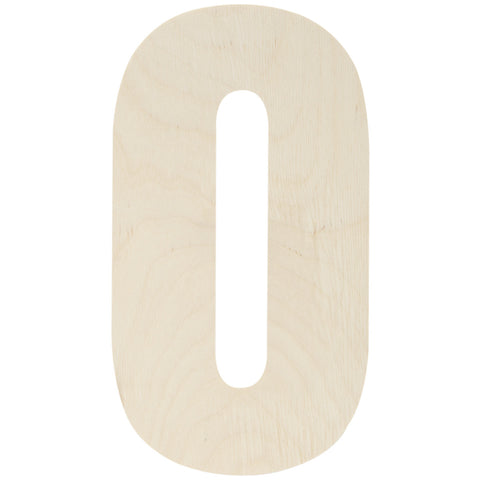 Baltic Birch Collegiate Font Number 0 13.5in