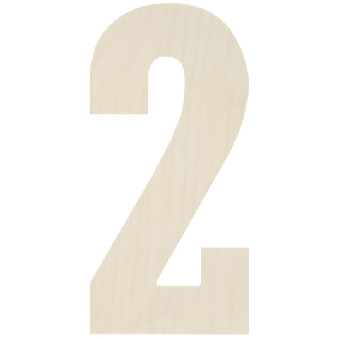 Baltic Birch Collegiate Font Number 2 13.5in