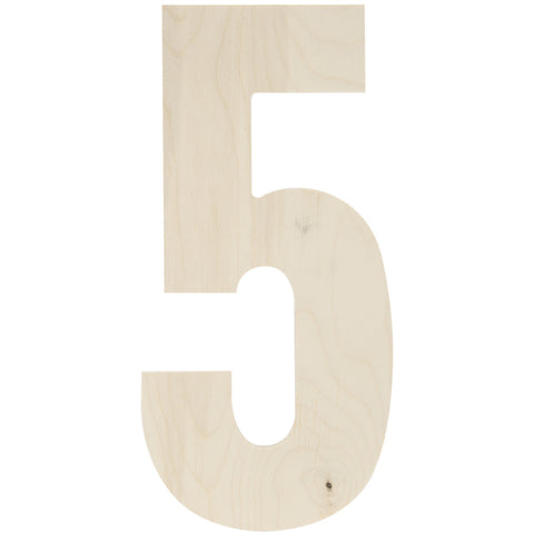 Baltic Birch Collegiate Font Number 5 13.5in