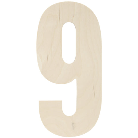 Baltic Birch Collegiate Font Number 9 13.5in