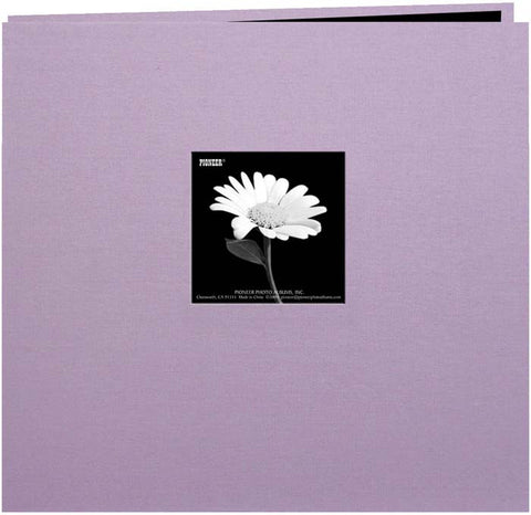 Book Cloth Cover Postbound Album with Window Misty Lilac 8inx8in