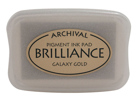 Tsukineko Brilliance Pigment Ink Pad Pearlescent Galaxy Gold