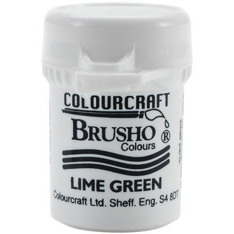 Brusho Crystal Colour Lime Green 15g