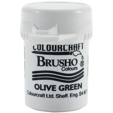 Brusho Crystal Colour Olive Green 15g