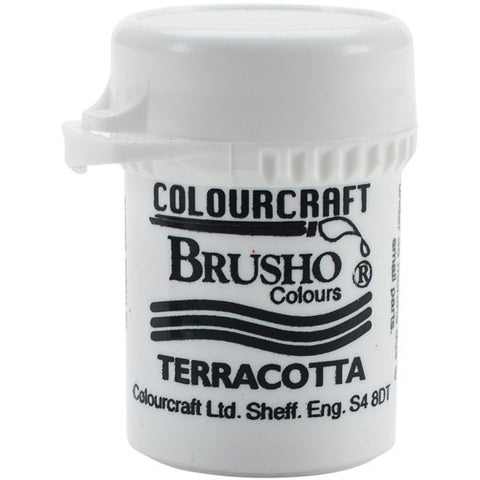 Brusho Crystal Colour Terracotta 15g