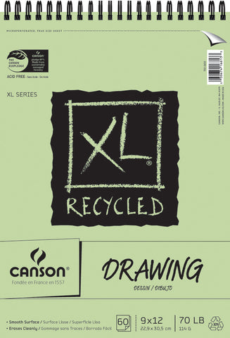 Canson Recycled Drawing Paper Pad 9inx12in