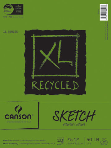Canson Recycled Sketch Paper Pad 9inx12in