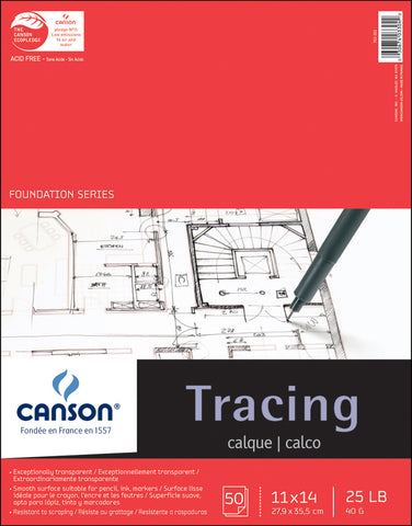 Canson Tracing Paper Pad 11inx14in