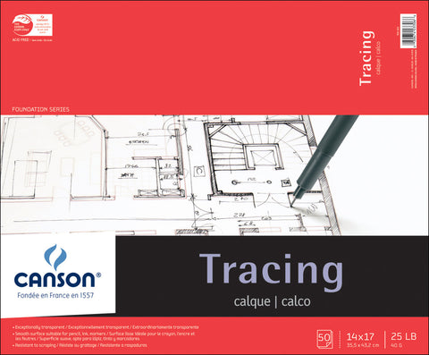 Canson Tracing Paper Pad 14inx17in
