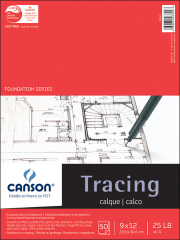 Canson Tracing Paper Pad 9inx12in