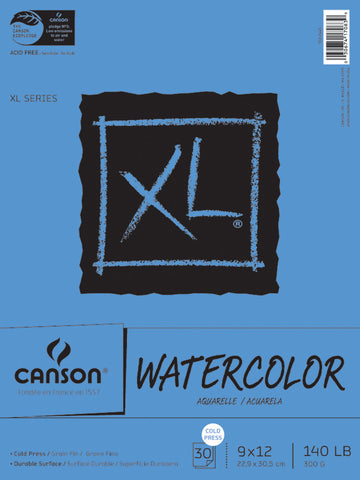 Canson Watercolor Paper Pad 9inx12in