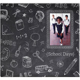 Chalkboard Post Bound Scrapbook with Window 12inx12in