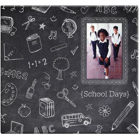 "Chalkboard Post Bound Scrapbook w/Window 12""x12"""