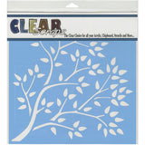Clear Scraps Stencils Tree Branch 12inx12in