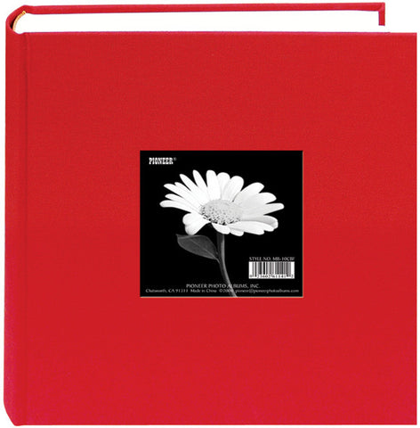Pioneer Cloth Photo Album with Frame Apple Red 9inx9in