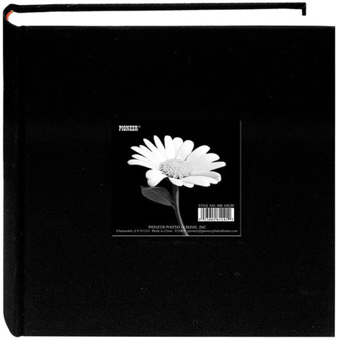 Pioneer Cloth Photo Album with Frame Deep Black 9inx9in