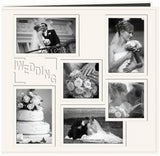 Pioneer Embossed Collage Frame Post Bound Album White Wedding 12inx12in