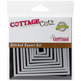 CottageCutz Basics Frame Dies Stitched Square