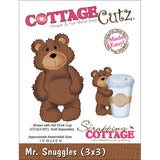 CottageCutz Die Mr. Snuggles 3inx3in