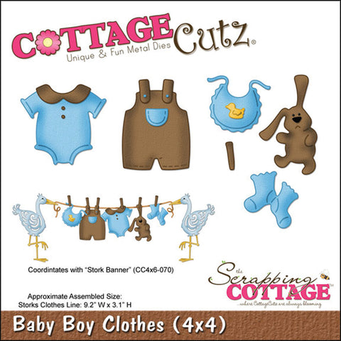 CottageCutz Die Baby Boy Clothes 4inx4in