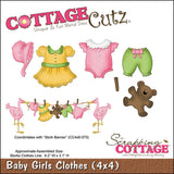 CottageCutz Die Baby Girl Clothes 4inx4in