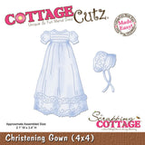 CottageCutz Die Christening Gown Made Easy 4inx4in