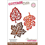 CottageCutz Die 3 Filigree Fall Leaves Made Easy 4inx6in